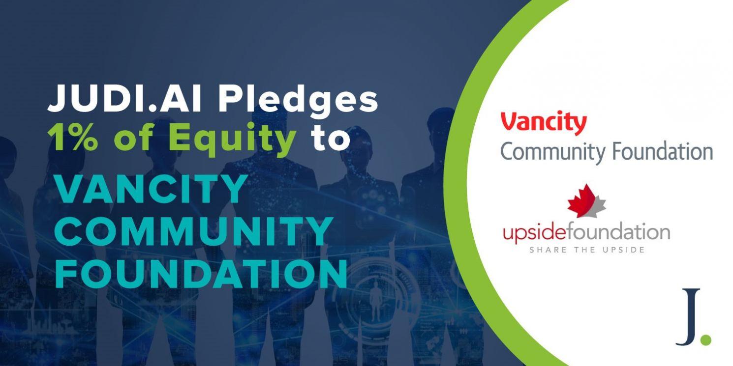 JUDI.AI Pledges 1% to Vancity Community Foundation