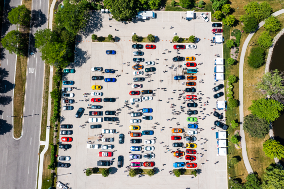 Drone View Exotic Super Cars