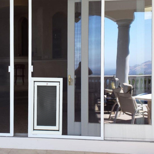 Screen Dog Door for Large Dogs