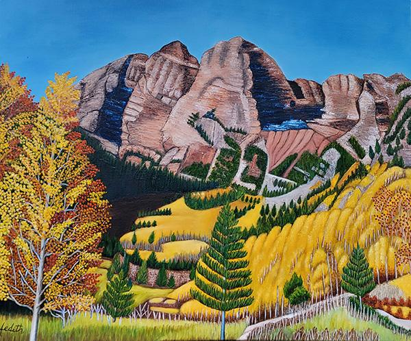Autumnal Valley By Hedith Perdomo