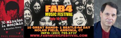 Author Paul Ferrante at Fab4 Music Fest- July 10th