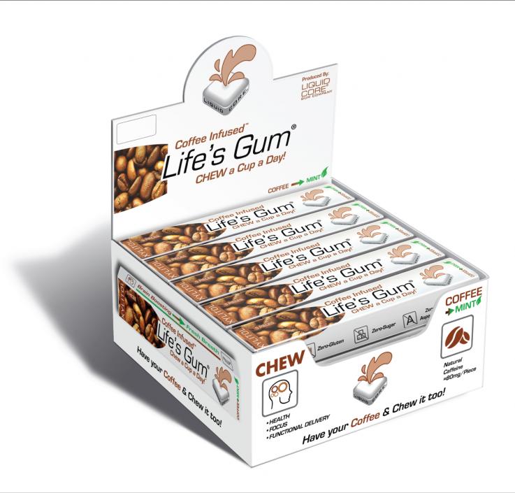 Life's Gum® Coffee™ POS Tray (15 Packs)