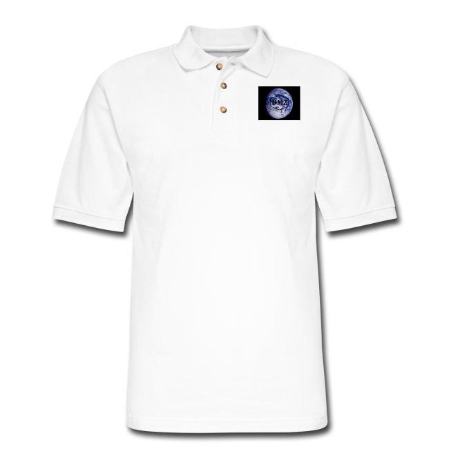 DMZ Mens Pique Polo Shirt White