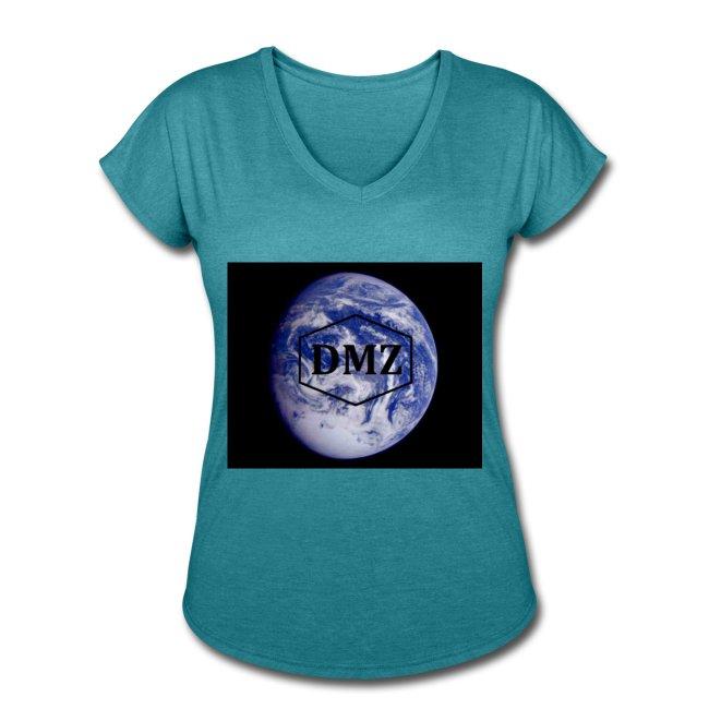 DMZ Womens Tri Blend V Neck T Shirt Turquoise