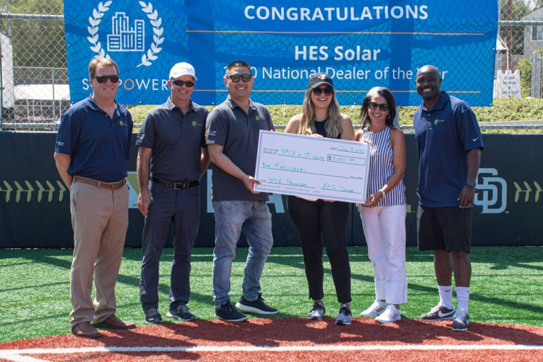 HES Solar and YMCA of San Diego Check Presentation