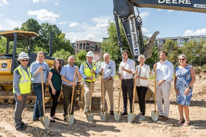 The Vega team celebrates construction start.