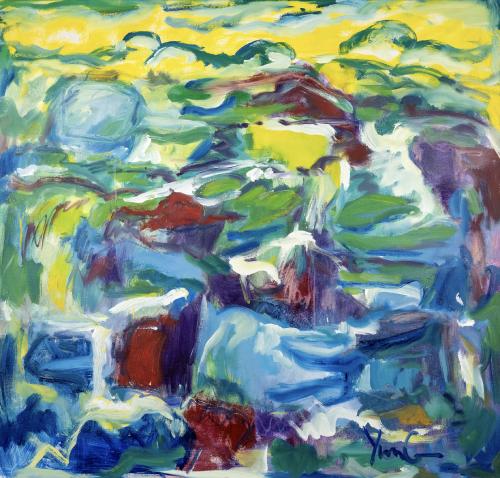 Dorothy Yung, NEW HORIZON, 42 x 38, OS20107