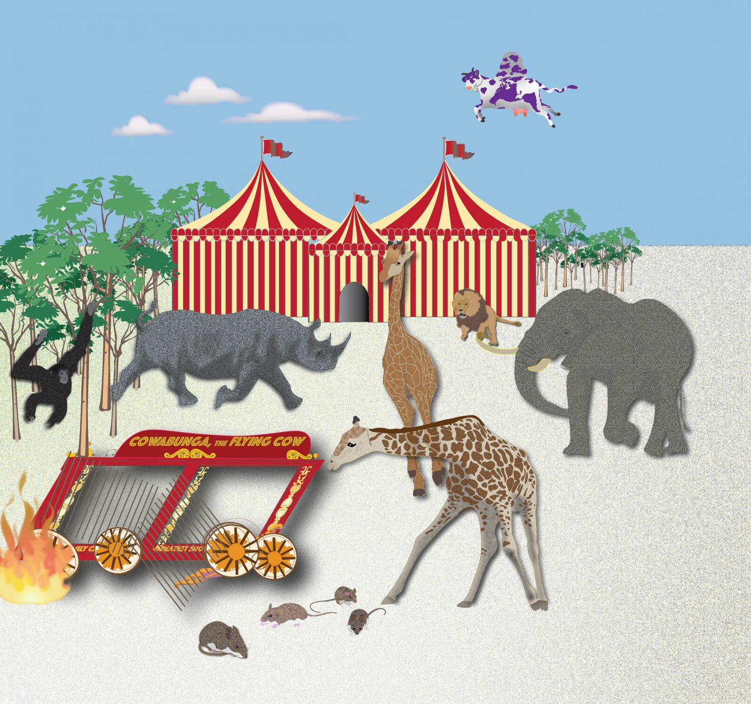 Circus break illustration from the book