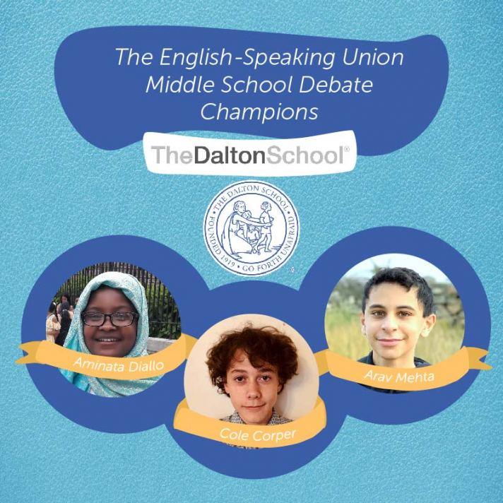 Middle School Debate Winners
