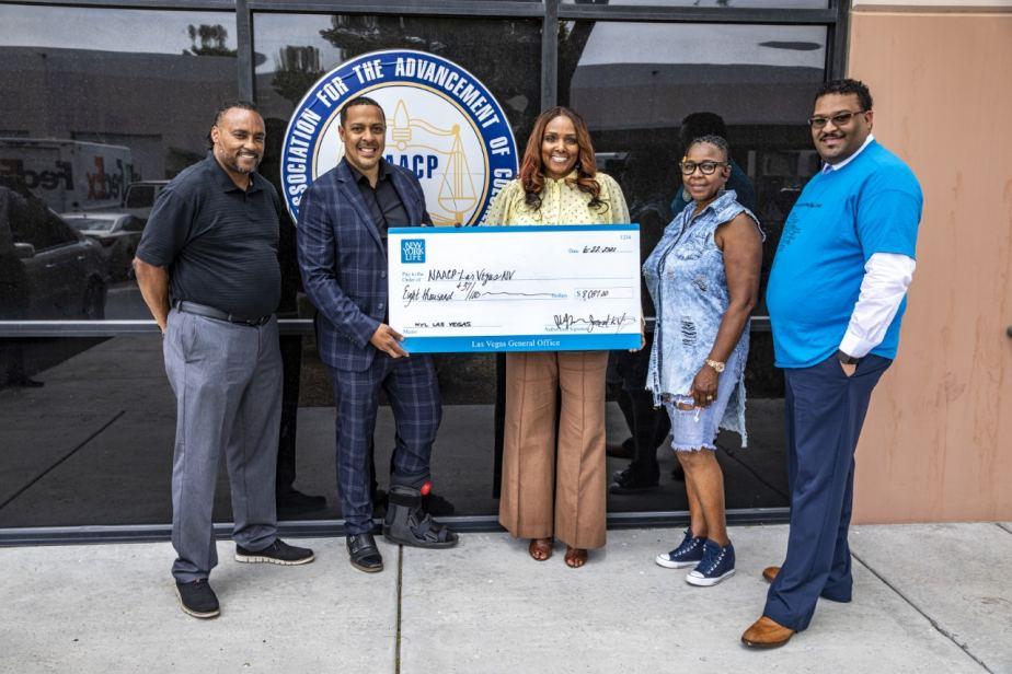 Las Vegas NAACP Receives Donation