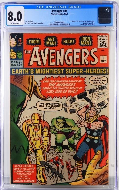 Marvel Comics Avengers #1 (Sept. 1963), $23,125.