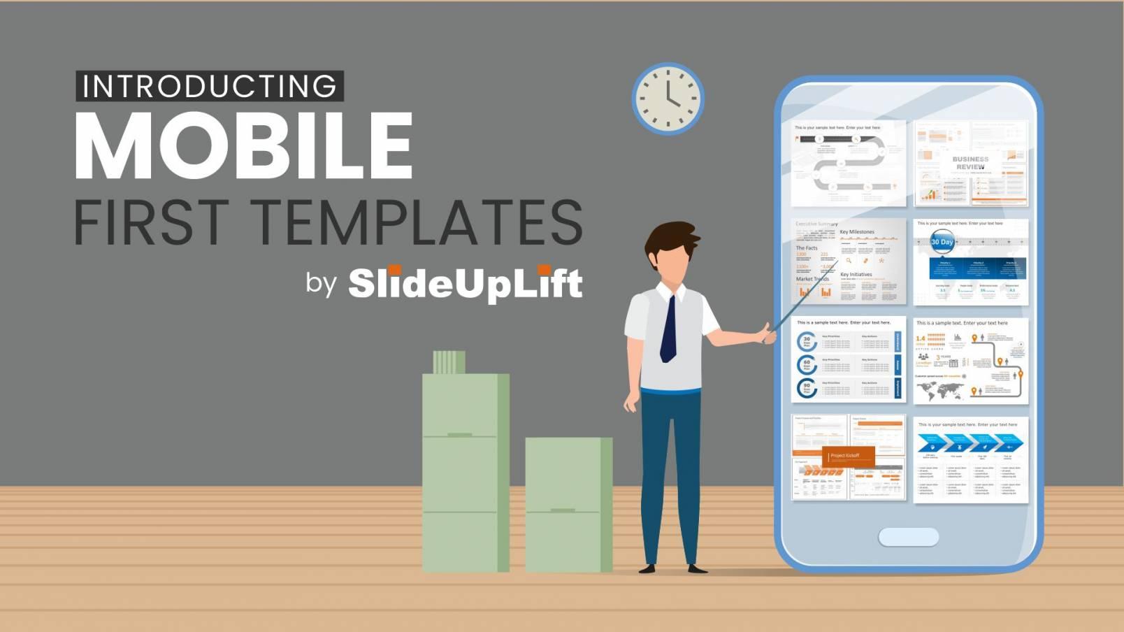 SlideUpLift's Mobile First PowerPoint Templates