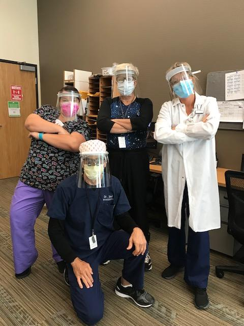 Chapa-De Indian Health Center with face-shields