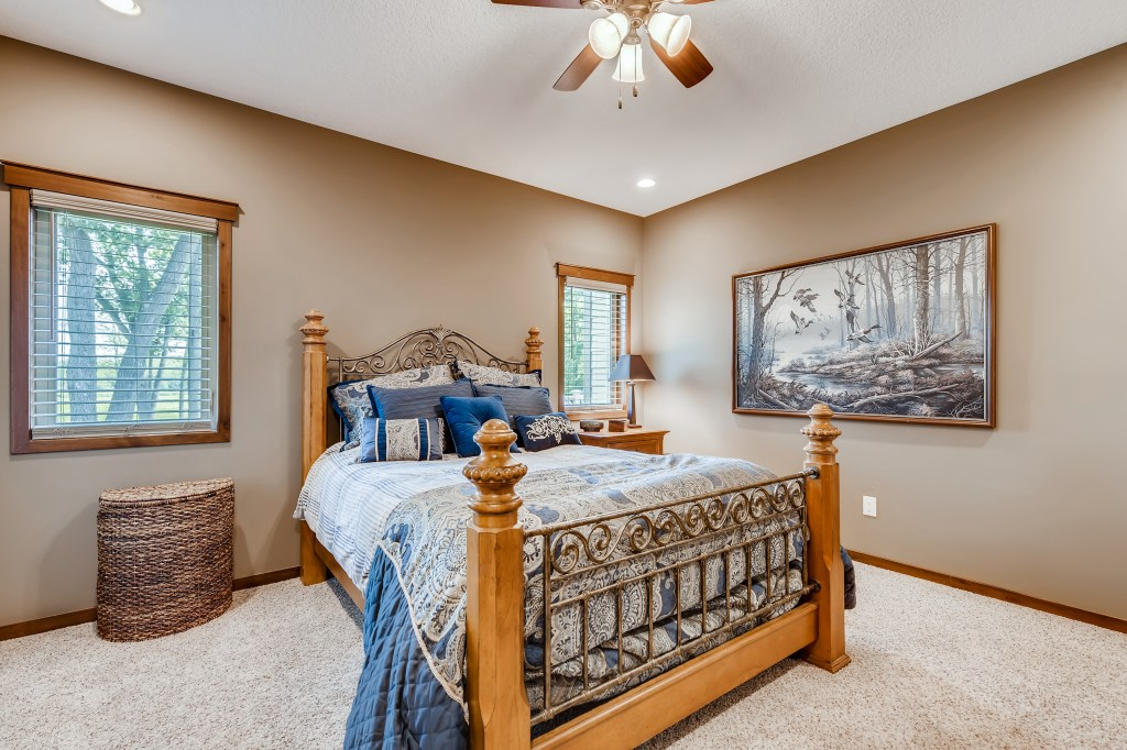 Master bedroom in Cambridge home for sale