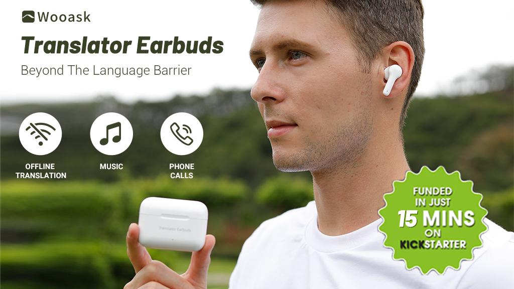 Wooask 3 In 1 Offline Translation Bluetooth Earbud