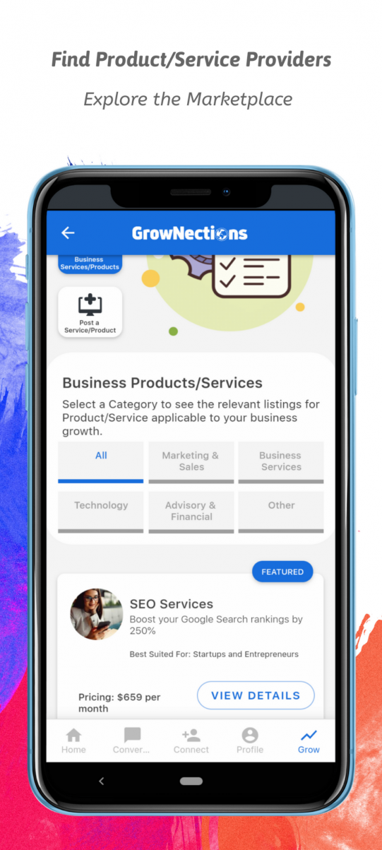 Grownections - Product and Service Marketplace