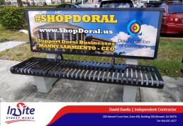 Insite Street Media Shop Doral Bus Benches Doral C