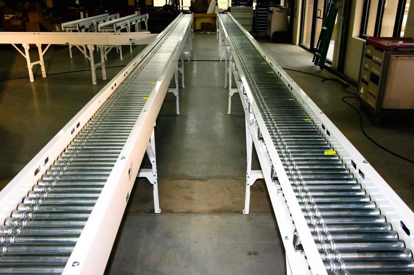 Robinson motor driven roller conveyors