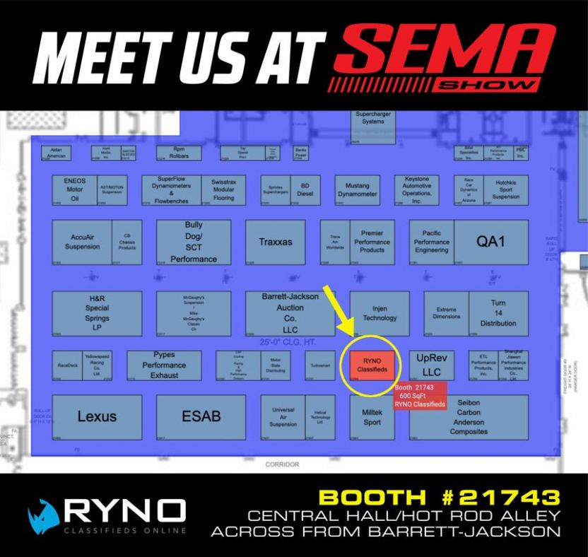 Visit Ryno Classifieds at SEMA Booth #21743