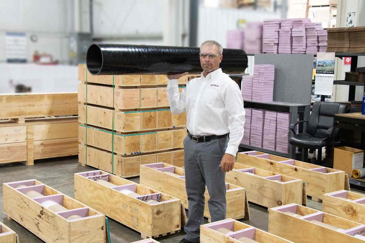 MECA Carbon fiber rolls