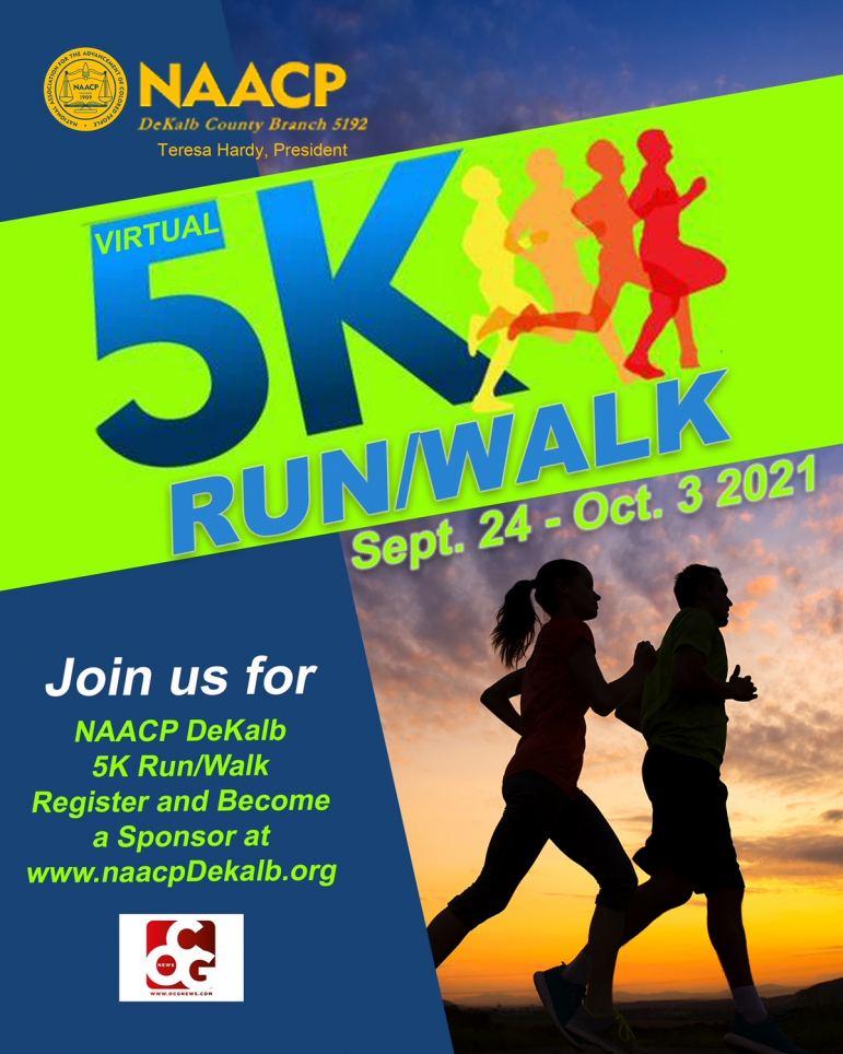 NAACP DeKalb Virtual 5K Walk/Run