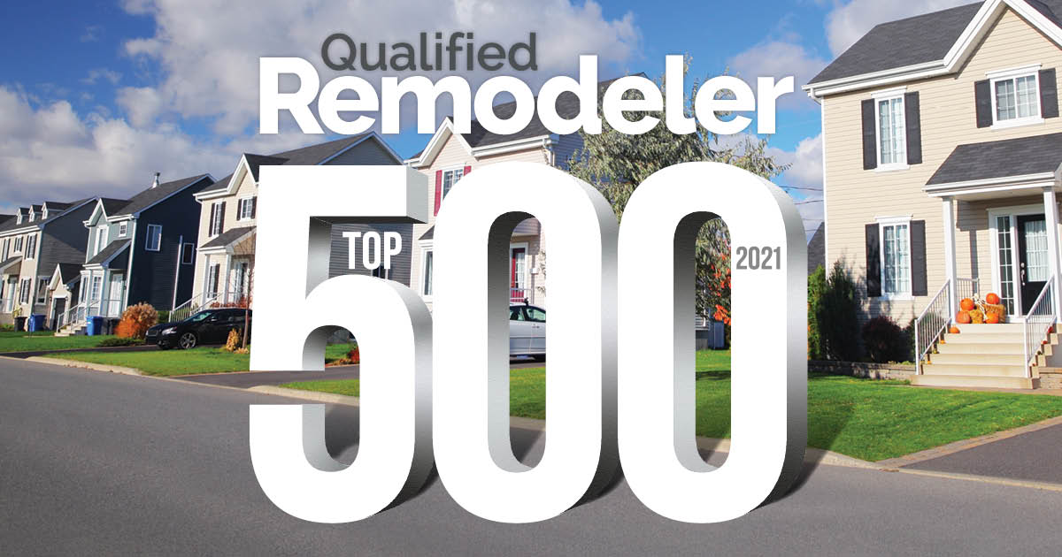 2021 Qualified Remodeler's TOP 500 List