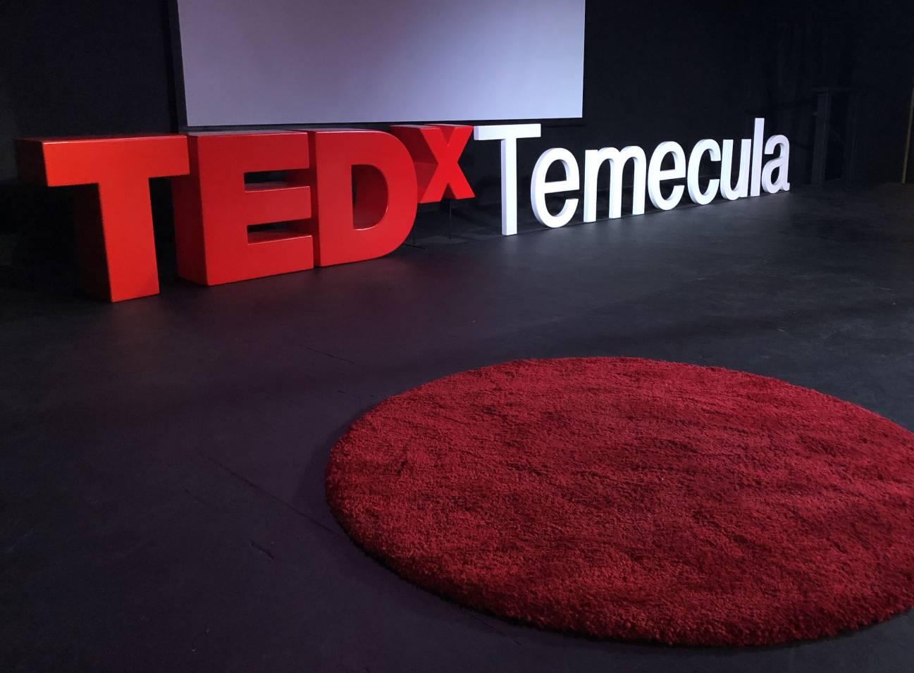 TEDxTemecula stage
