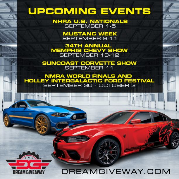 September Event Schedule for Dream Giveaway & Ryno