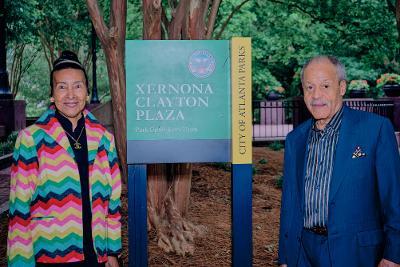 Xernona Clayton And Sculptor Ed Dwight Xernona Cla