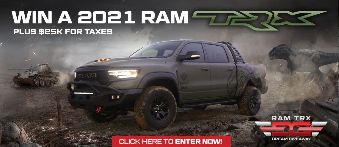 One person will win the 2021 Ram TRX 702hp Hellcat