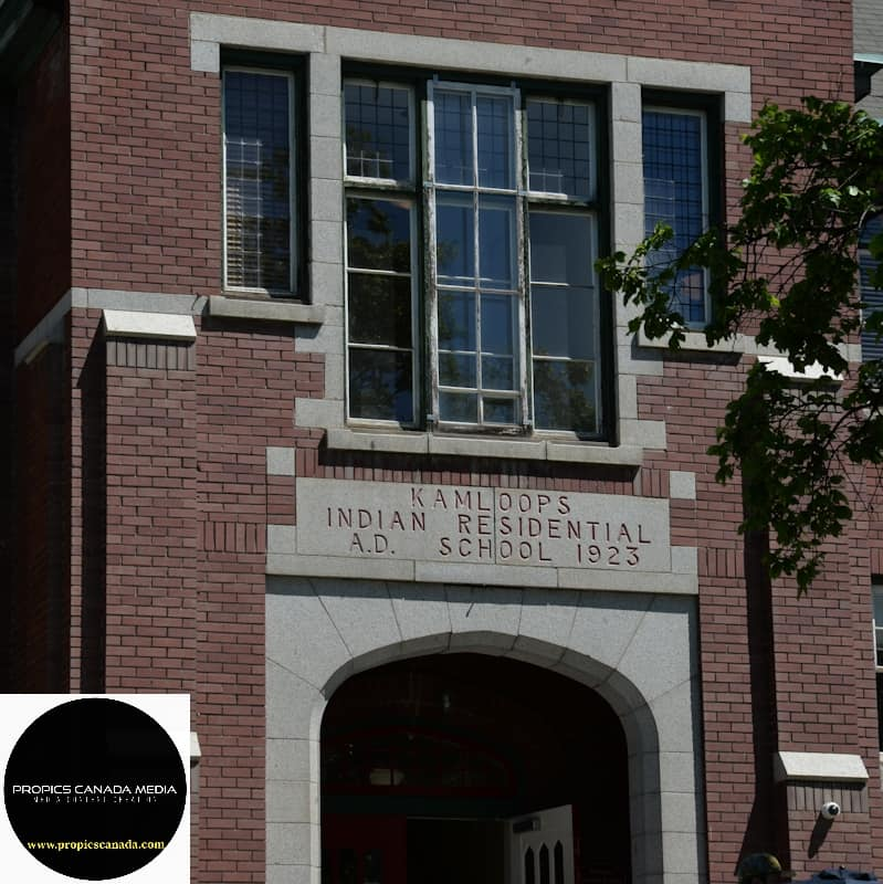 Entrance of the Kamloops Indian Residential School