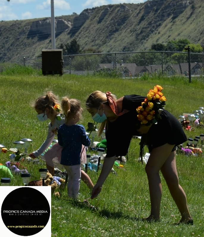 Flowers for each of the 215 Graves in Kamloops BC