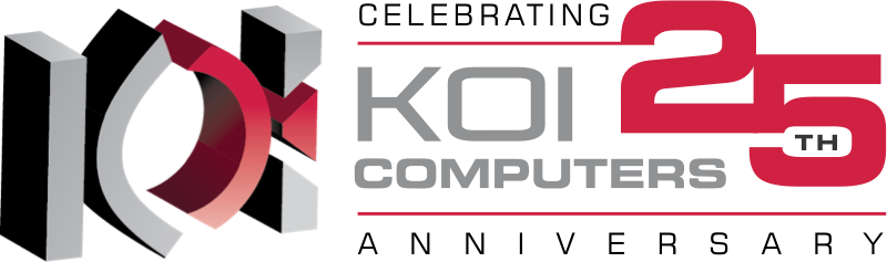 Koi Computers 25 Anniversary Logo