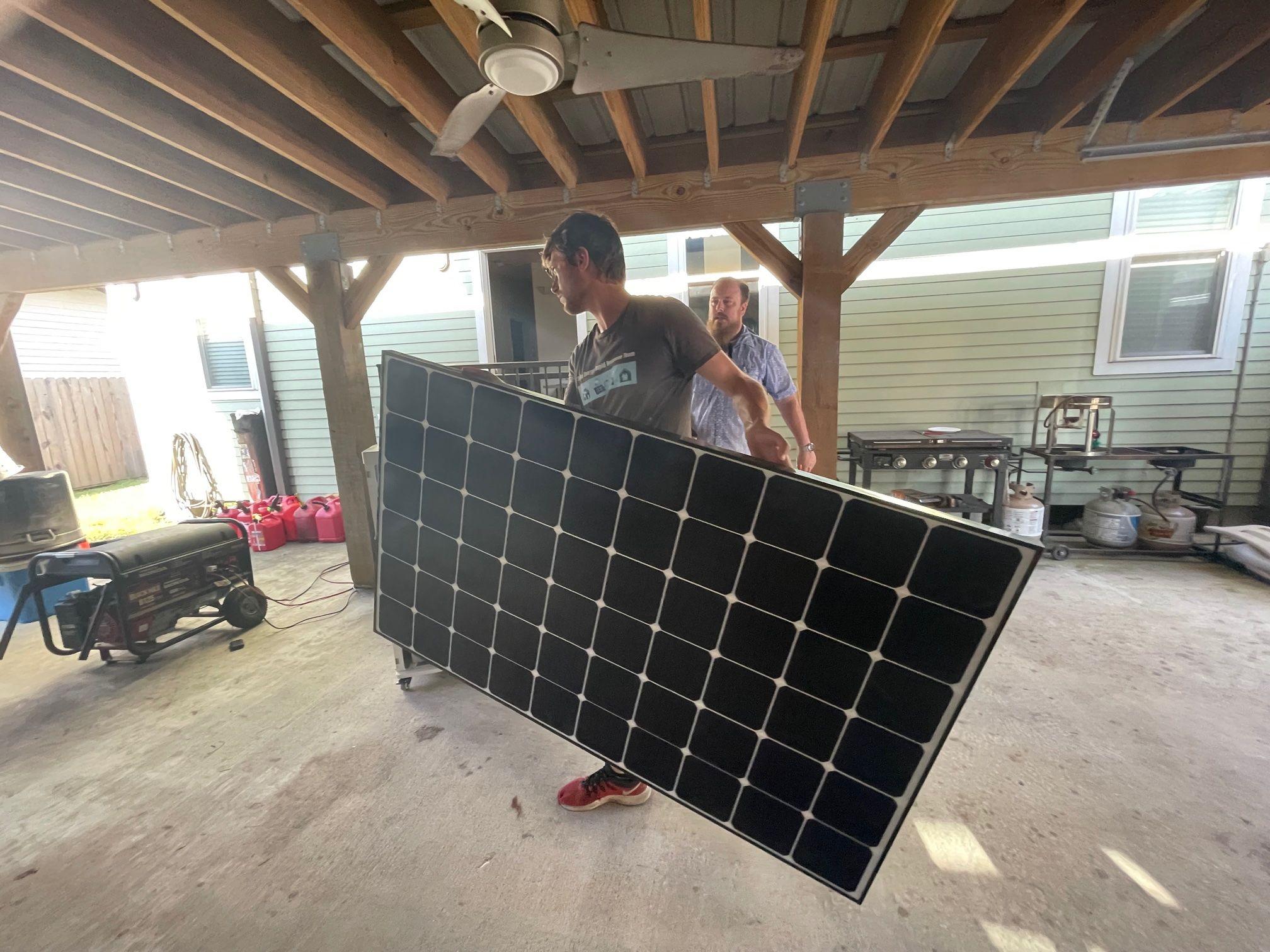 Replacing diesel generator with solar at NOLA VFW