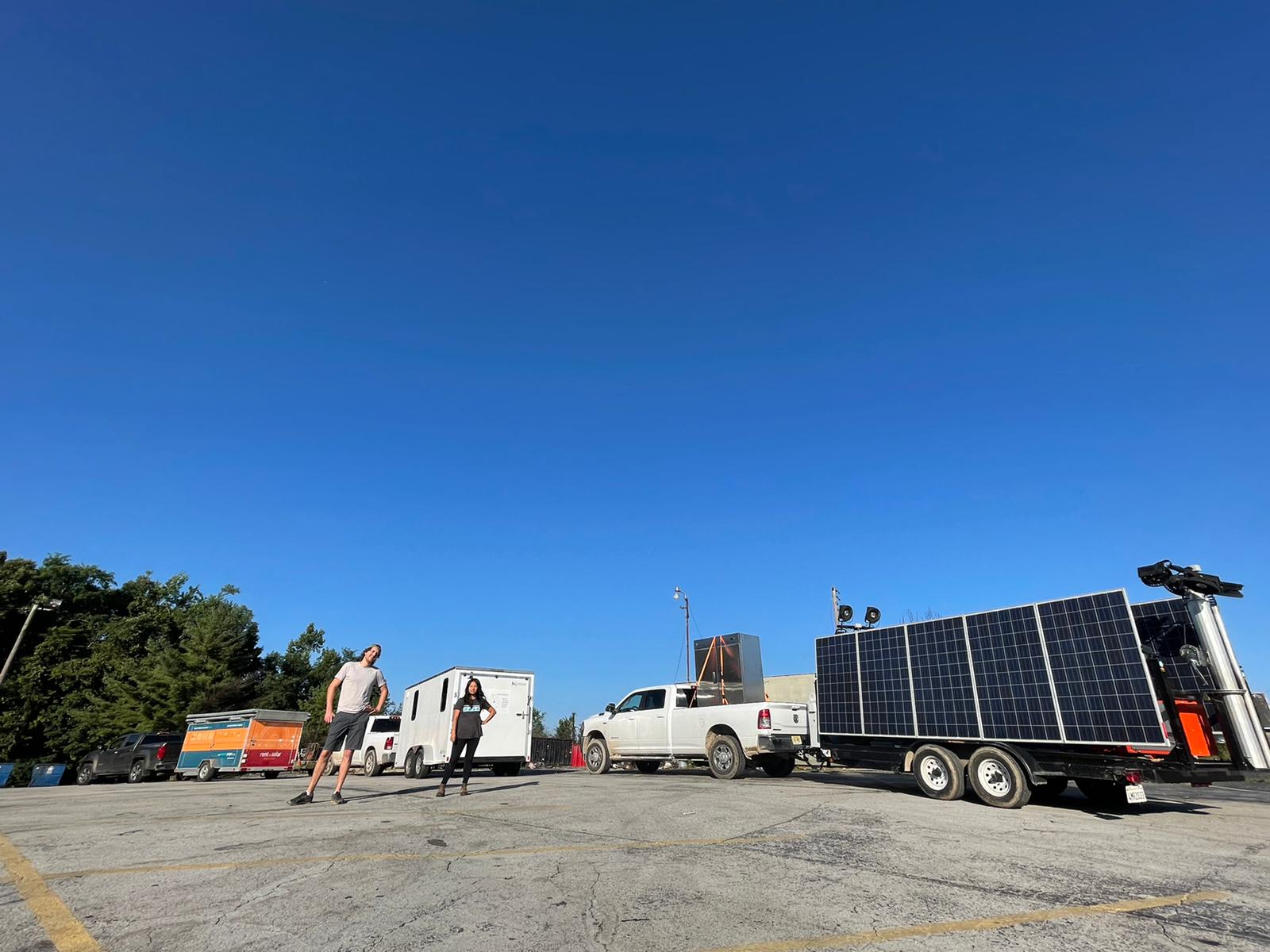 Solar cavalry on the road