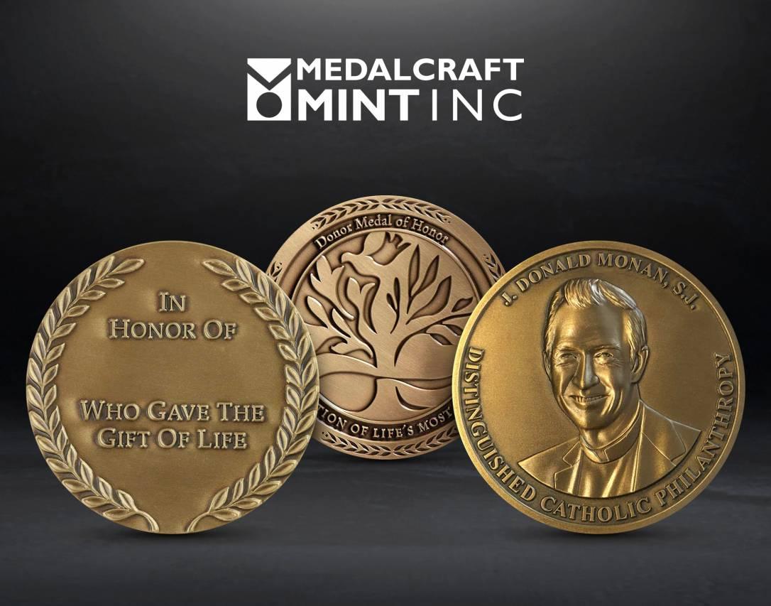 Medaclraft Donor network medals