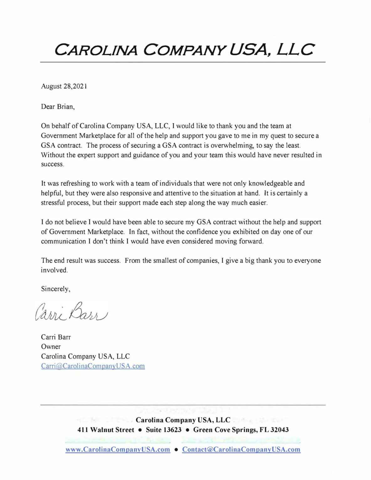 Carolina Company USA, LLC
