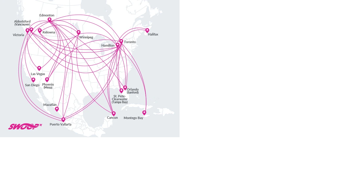 Swoop Route Map