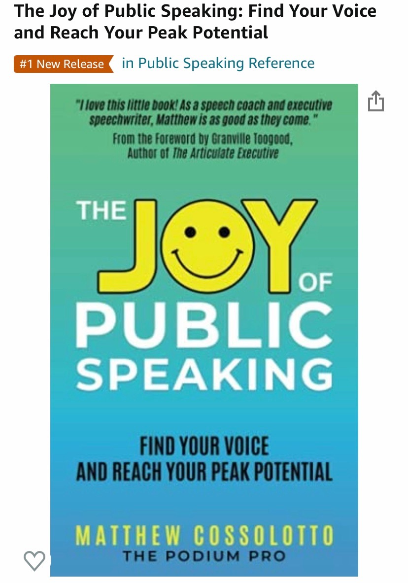 #1 Hot New Release in Public Speaking Reference