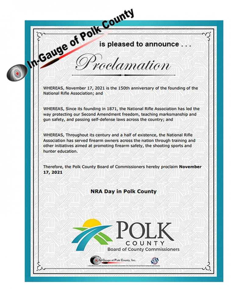 Polk County Proclamation