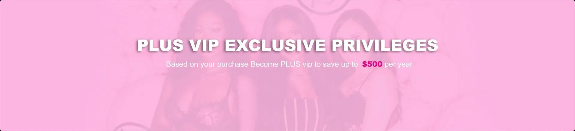 UNice Hair PLUS VIP Banner