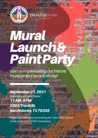 Travis Park Church Paint Party Flyer