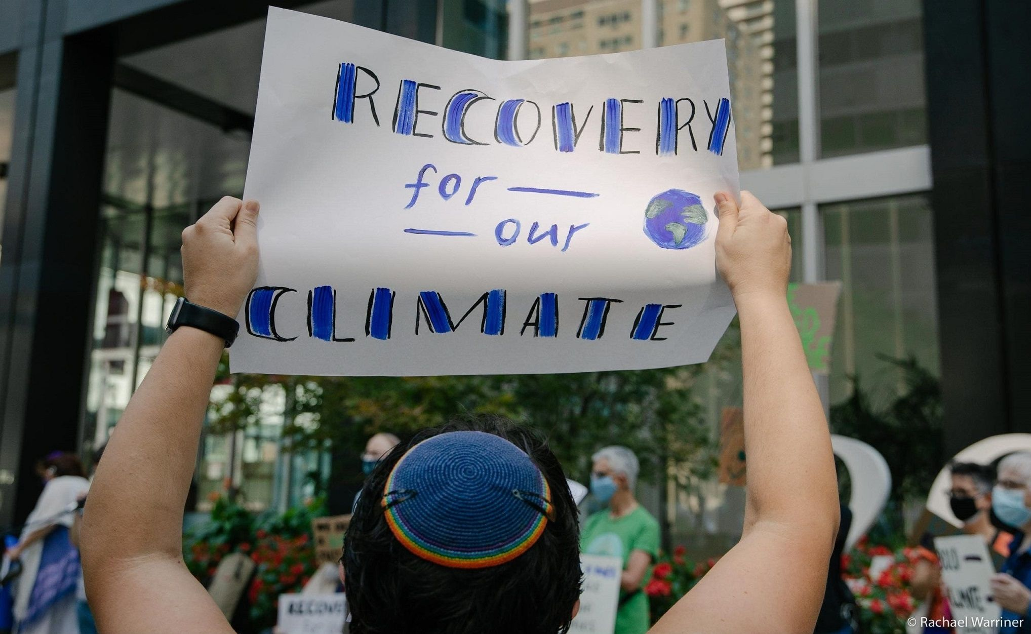 Recovery for our Climate sign (Rachael Warriner)