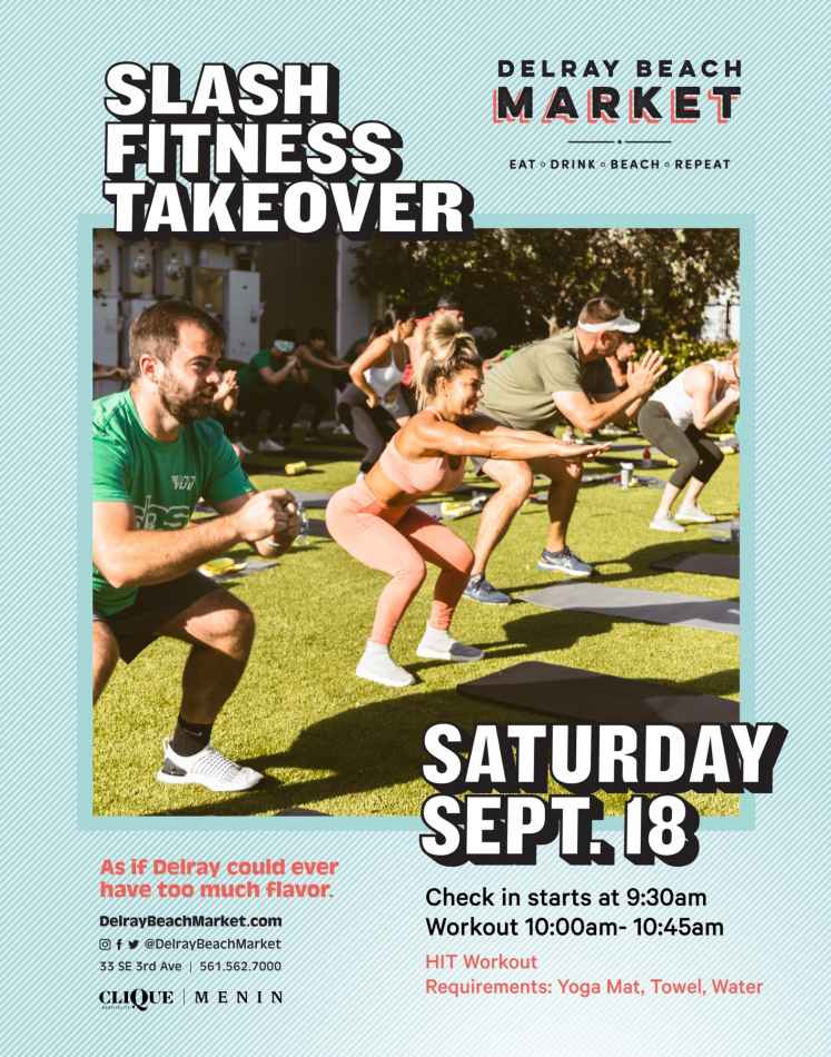 Slash Fitness Hosts Workout at Delray Beach Market