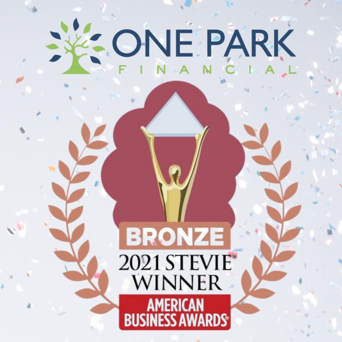 One Park Financial 2021 Stevie Award Winners