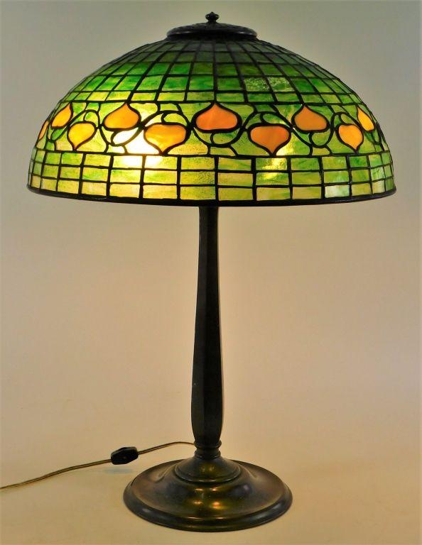 Early 20th century Tiffany Studios table lamp.
