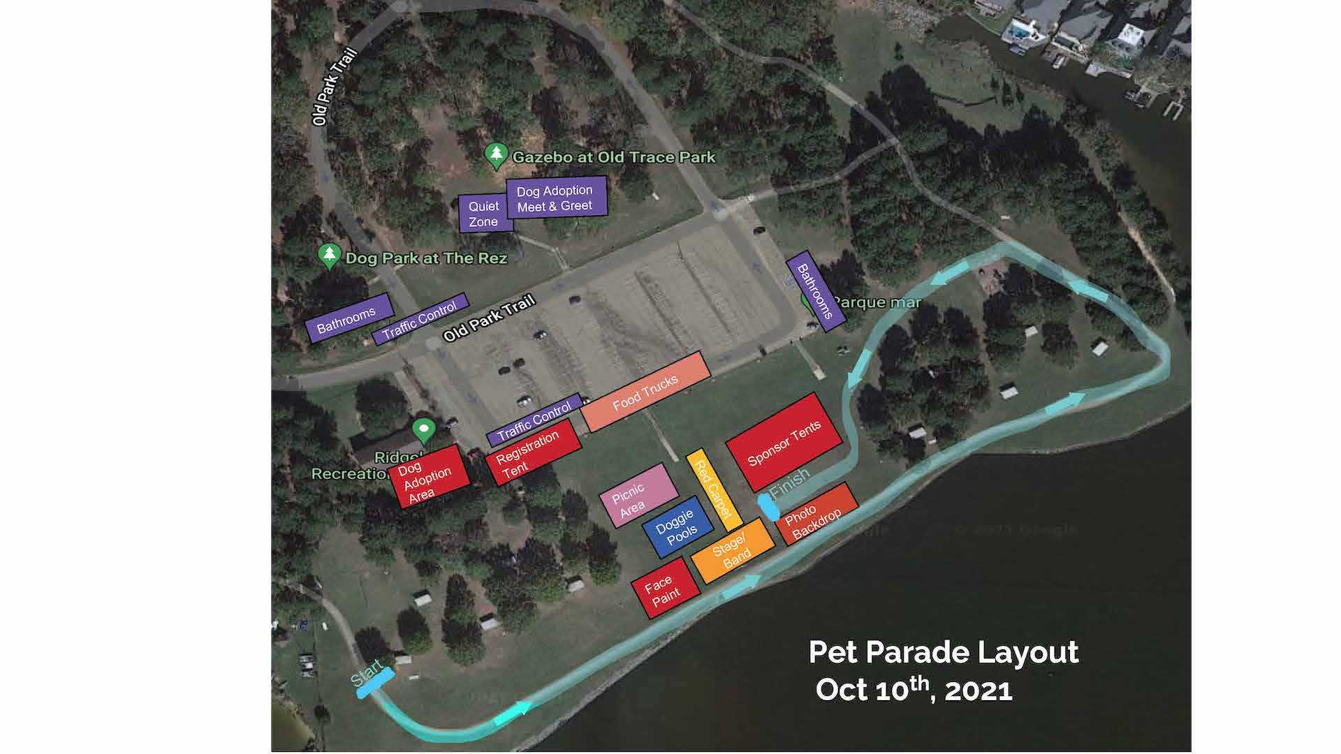 Site Layout and Parade Route