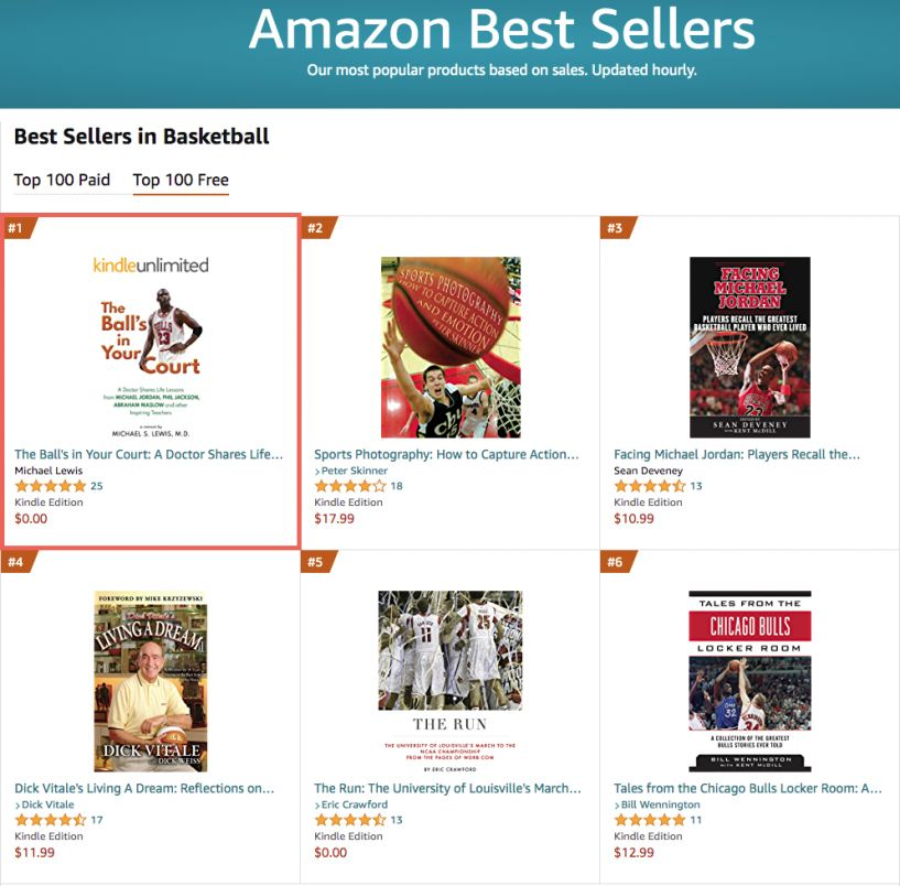 Amazon Bestseller - The Ball's in Your Court