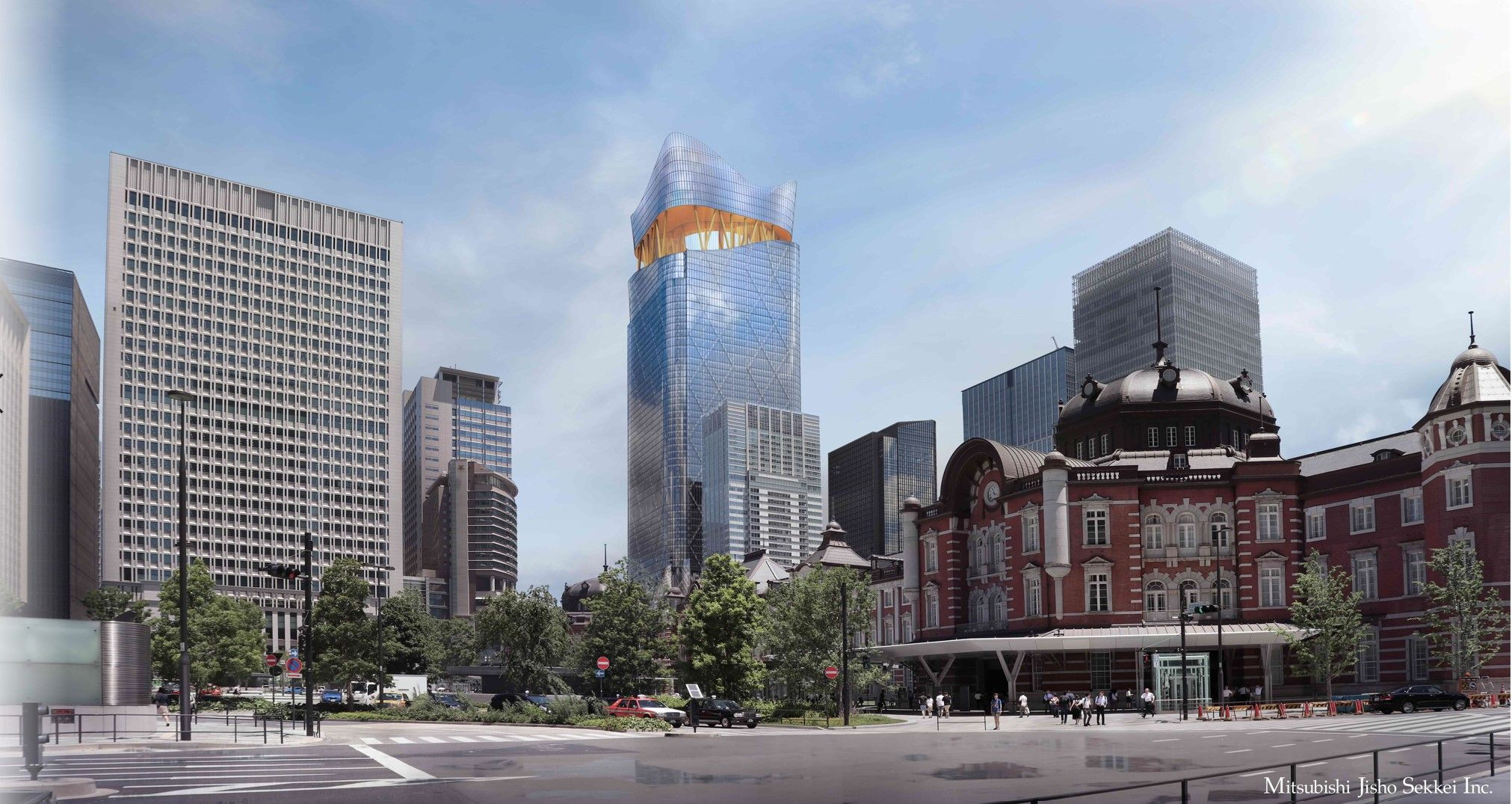Tokyo Torch and Tokyo Station area Buildings