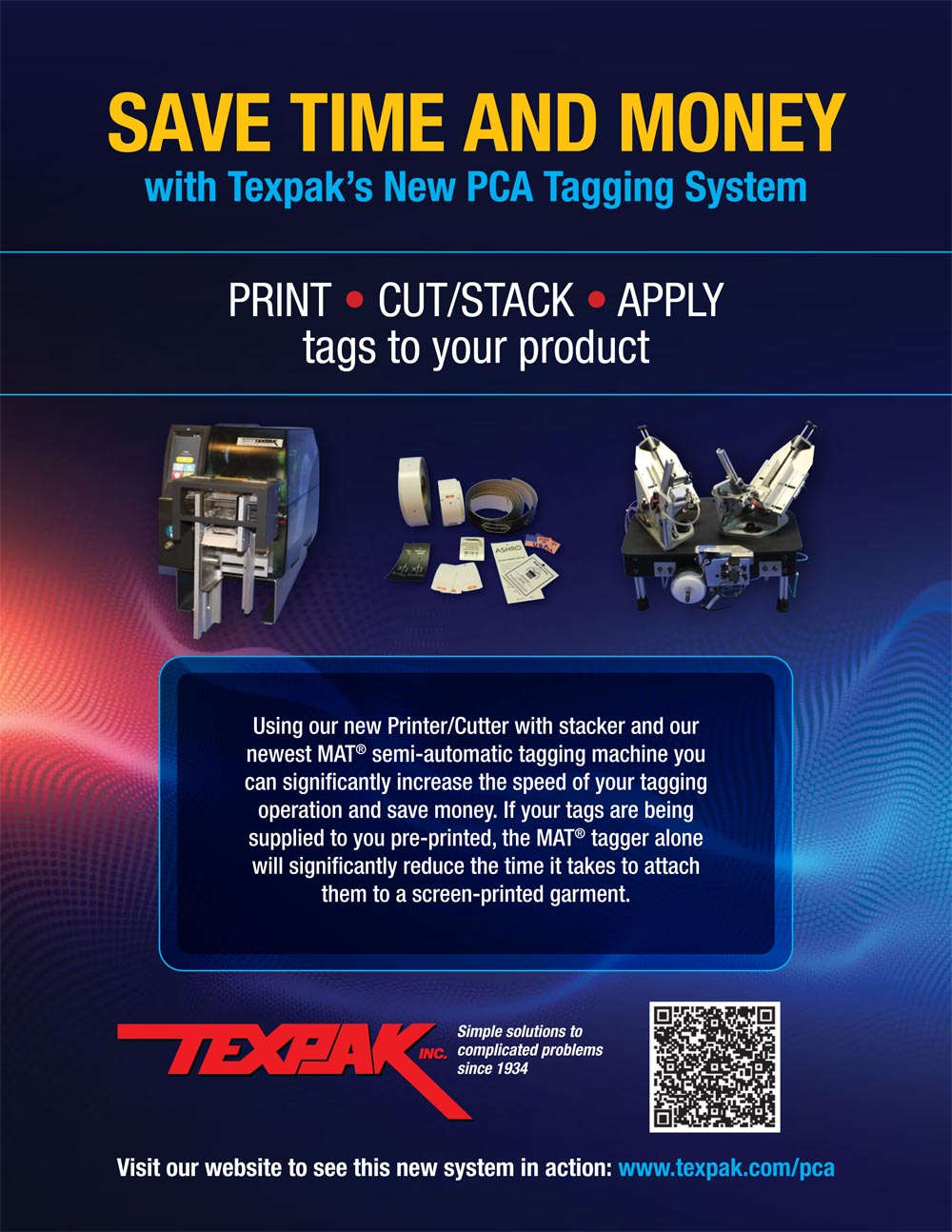 PCA Tagging System from Texpak